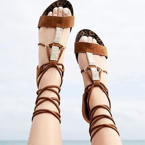 Free people lace up sandals! BRAND NEW!